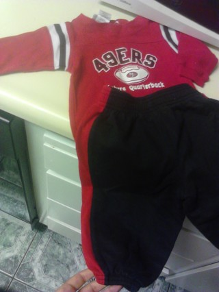 49ers baby outfit size 12months!