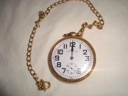 Old Caravelle Pocket Watch Made By Bulova Watches Ia