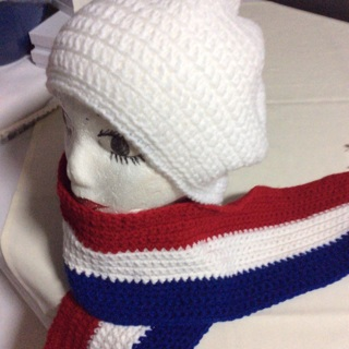 Beautiful Hand Crochet Scarf and Hat.