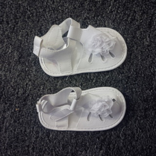 NWOT Carters white baby sandals, size 3