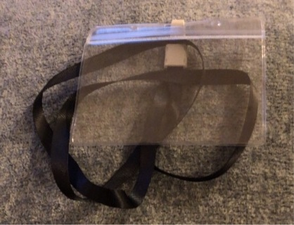 Brand New: Waterproof, Clear, Vaccination Card Holder and A Black Lanyard