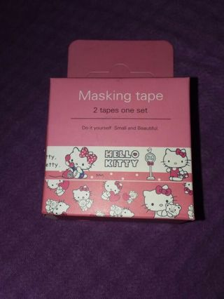 Hello Kitty ❤ BNIP Kawaii Washi Tapes, 2 different Rolls! 5 METERS EACH!!