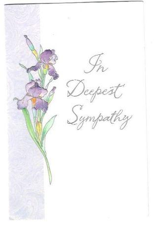 Sympathy Card Unused With Envelope