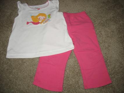 Baby girl shirt and pants 18M