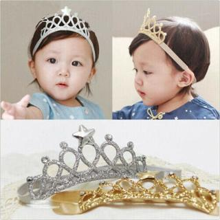 Princess Crown Headwear Headbands Bow Girls Toddler Baby Kids Hair access