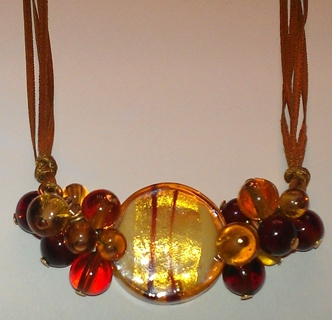 *REDUCED*Purchased IN Venice, Italy! Murano Glass Millefiori Silk Necklace
