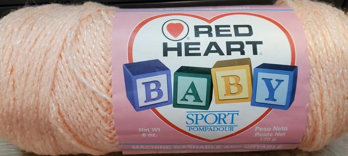 "NEW - Red Heart Baby Sport Yarn - ""Peach"""