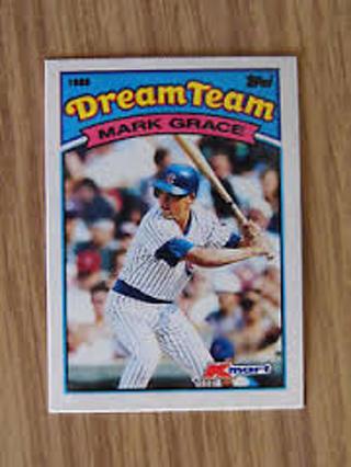 Free Mark Grace 1989 Topps Kmart Dream Team 1 Rookie Of 1988