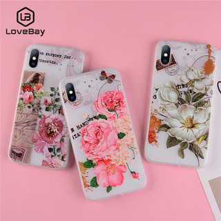 1ef12f4f60 FREE: Lovebay Phone Case For iPhone 6 6s 7 8 Plus X XR XS Max 5 5s SE  Fashion Relief Beautiful Flower
