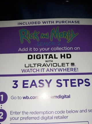 Free: Rick and Morty Season 2 HD CODE ONLY - Other DVDs