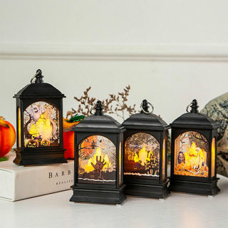 Pumpkin LED Candle Light Lamp Hanging Lantern Halloween Party Home Decor Filmy