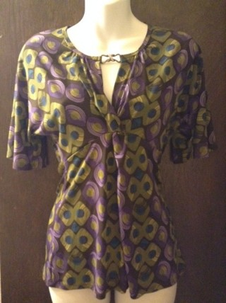 New - Lovely Blouse with Rhinestone Clasp  - JCP NWT!