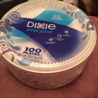 """100 Dixie Everyday Plates 2 x Stronger 8 1/2""""(21.5cm)"""