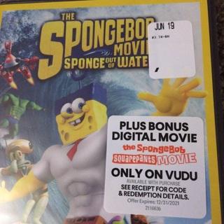 The spongebob movie digital code