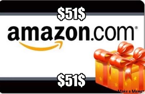 $51 Amazon gift card