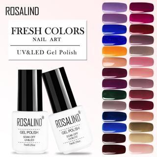 ROSALIND Nail Polish For Nail Extension 7ML Colors UV LED Lamp Gel Polish Nail Art Design Lacquer