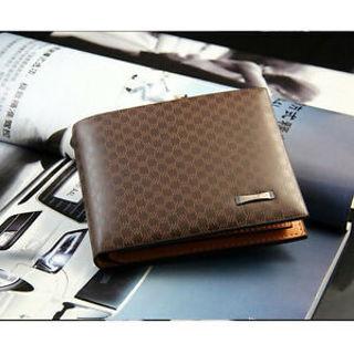 New Stylish Men's PU Leather Wallet Pocket Card Clutch Bifold Purse QQ1