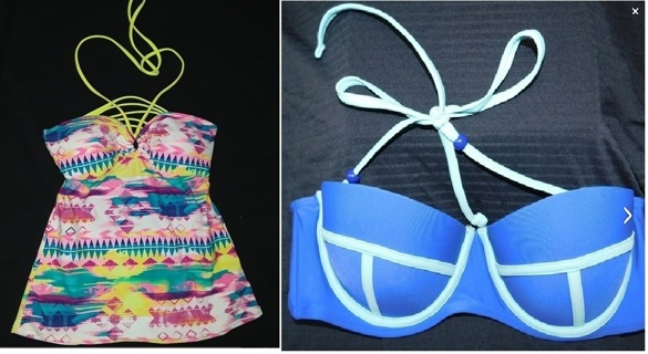 2 NEW without tags > TANKINI BIKINI Tops Womens Medium BONGO & GOSSIP Brand