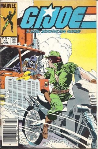 (CB-3) 1985 Marvel Comic Book: G.I. Joe ARAH #44 { 1st Print - MISPRINT dated ' 986 ' }