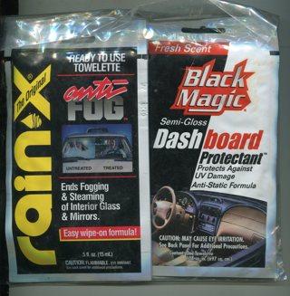 Rain X Windshield Anti Fog & Black Magic Dash Protector Bundle Pack-4 Each