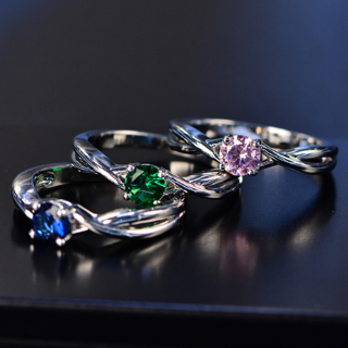 Sapphire Silver Ring Women's Gemstone