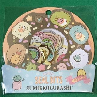 Donuts Sumikkogurashi Kawaii sticker flakes sack NEW