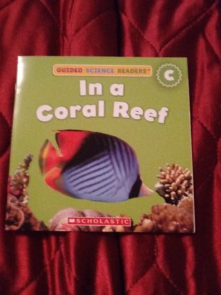 Used Children's Scholastic Book In a Coral Reef