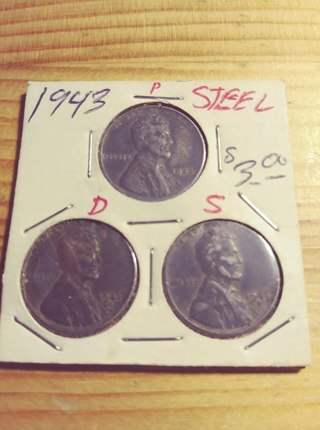 1943 Steel Lincoln Wheat Penny SET!!!! 101