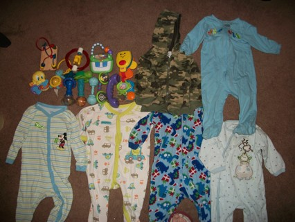 LOT OF BABY TOYS & BOY CLOTHES