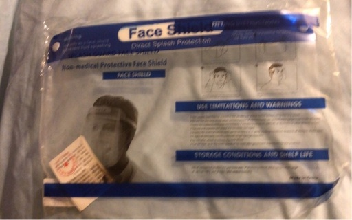 Brand New: ONE Reusable, Washable, Sterile, Adult Face Shield. Never Worn!