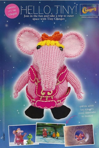 """NEW """"TINY CLANGER"""" PATTERN FOR OUTER SPACE FUN FREE SHIP"""