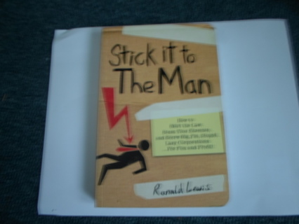 Stick it to The Man (softcover book) Ronald Lewis