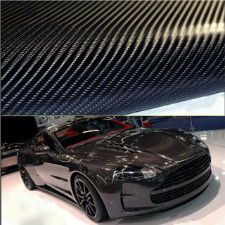 3D 4D Gloss Car Carbon Fiber Vinyl Wrap Sticker Film Roll Air Free