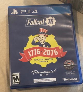 PS4 Fallout 76 Tricentennial Edition *Like Brand New* (Read description)