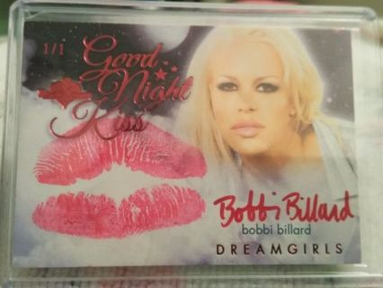 2016 Benchwarmer Bobbi Billard Kiss Auto Red foil 1/1 Dreamgirls Good Night Kiss
