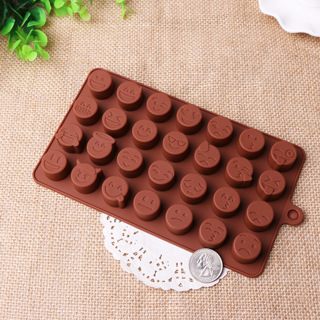 Emoji Silicone Mold Chocolate Candy Making Crafts Ice Cube Cake Fondant Birthday