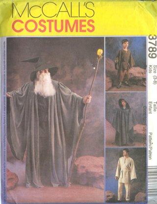 Free: McCall\'s Costume Pattern #3789 ~ Star Wars Jedi Cloak Wizard ...