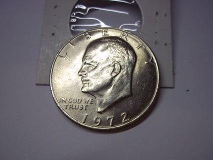 HARD MINT MARK TO FIND 1972-D EISENHOWER DOLLAR COIN! SOLID W/EVEN WEAR!