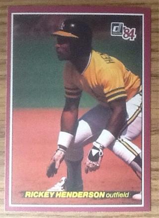 1984 Donruss Rickey Henderson Big card