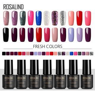 ROSALIND Gel Nail Polish Set For Manicure Extension 7ml Gel Varnishes UV Hybrid Gel Nails Art Semi