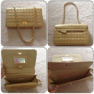 Gorgeous Classy Jaclyn Smith gold clutch purse