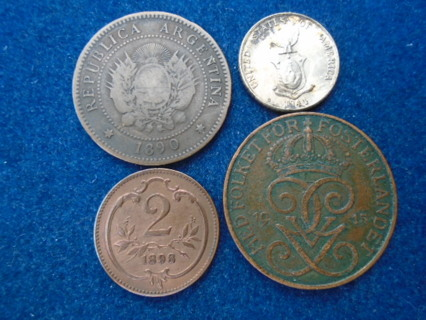1800's 1900's OLD WORLD COINS WITH SILVER!