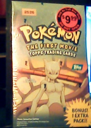 Pokemon(Read All) Topps Box 11 Packs+Stadium Tip Cards *Danone Rare Complete Set Sealed