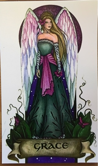 """ANGEL OF GRACE - 4 x 5"""" MAGNET - GIN ONLY"""