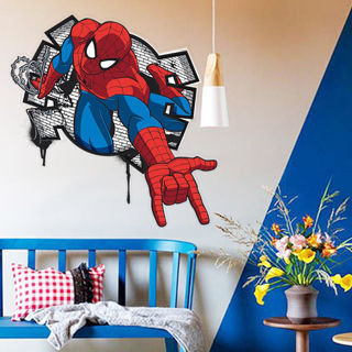 Large Spider-man 3D Effect Room Decor Wall Sticker Boys Kids Nursery Mural