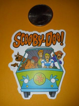 Scooby-doo cute new vinyl lab top sticker no refunds regular mail only no lower