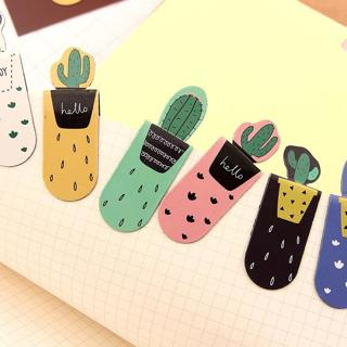 3pcs/lot DIY Kawaii Cactus Magnetic Bookmark Cute Multifunctional Office School Stationery Supplie