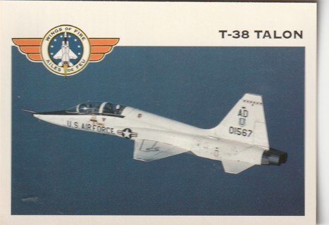 Vintage Collector Card: Wings of Fire: T-38 Talon