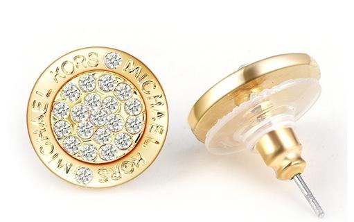 New 2016 Round MK Gold Earrings