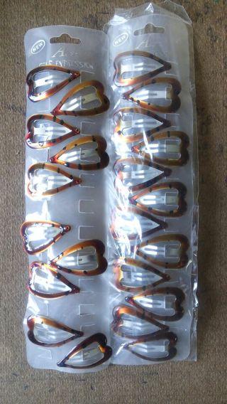 Tortoise shell hair clips lot of 22 Brand New